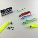 rigging fishing lures , rapala lures fishing tackle, salmon , perlagic fishing lures, skirted lures