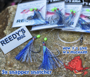 snapper rigs ,snapper snatchers, w.a pilchard,
