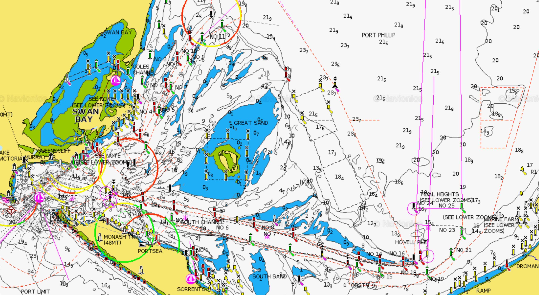 Port Phillip Bay Map Map Of Port Phillip Bay | compressportnederland